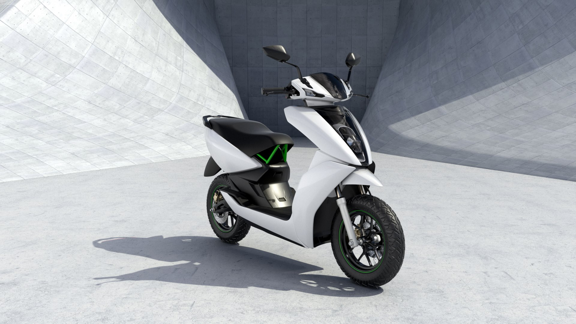 India's first electric scooter. Image source - Ather Energy