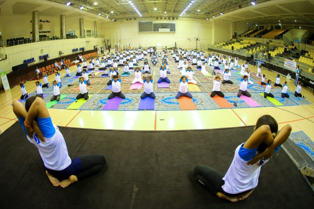Indians in Qatar celebrate 5th International Day of Yoga with community get-togethers - QatarIndians.com