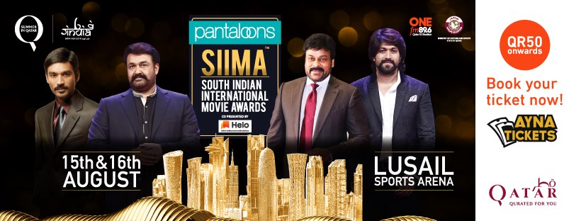 SIIMA Awards 2019 - Top South Indian artistes to attend | Lusail Indoor Arena - 15-16 Aug - QatarIndians.com