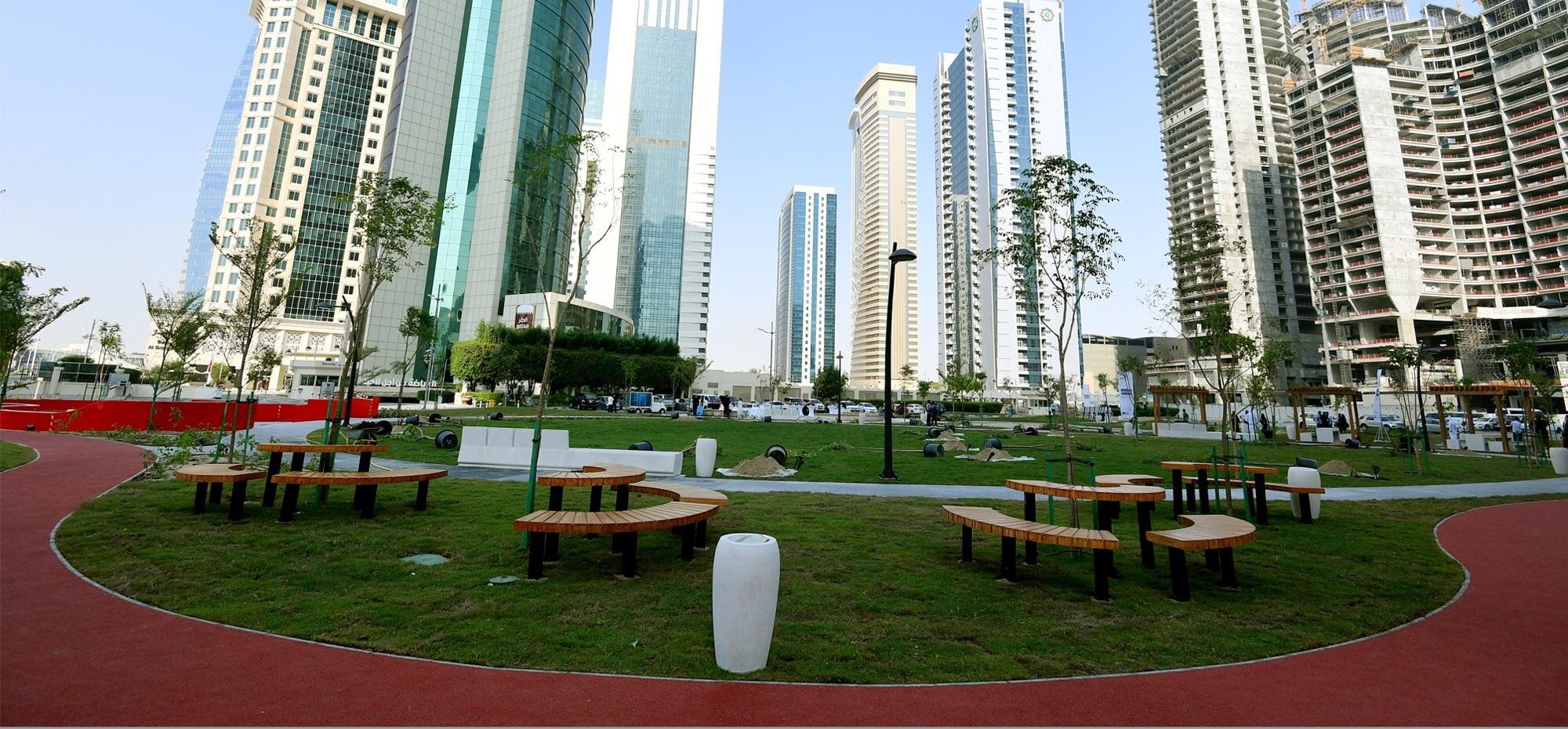 Al Abraj Park opened for the public at West Bay (Onaiza) area - QatarIndians.com