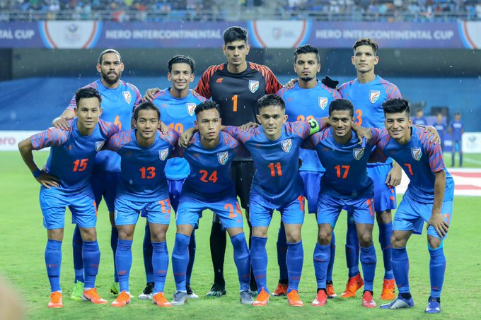 Indian Football Team - pic credit: Twitter@Sunil Chhetri