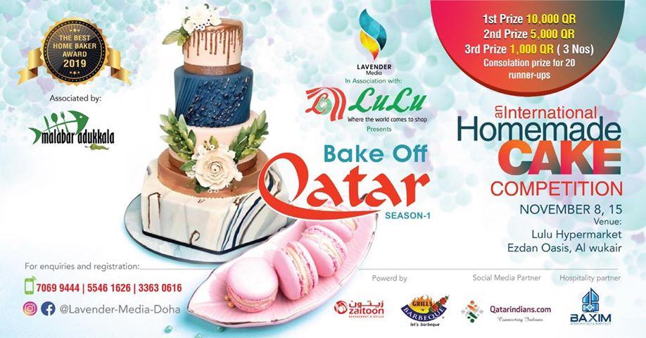 Bake Off - Homemade Cake Competition | Qatar, Season 1 - Win Cash Prizes - QatarIndians.com
