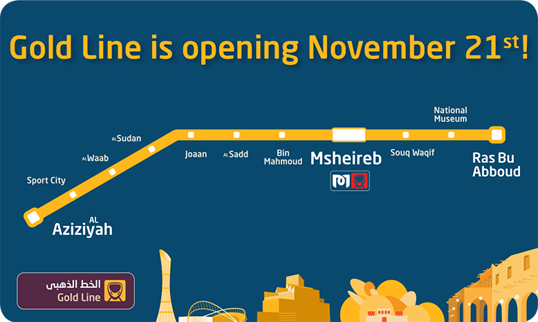 Doha Metro Gold Line | Golden opportunity for Doha Metro commuters