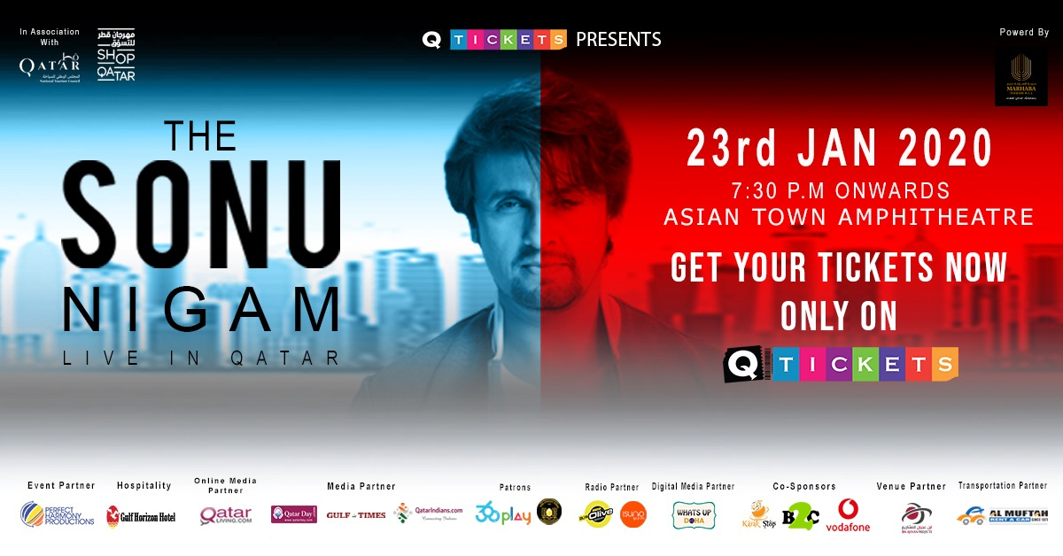 Sonu Nigam – all set to thrill music lovers today (23 Jan 2020)