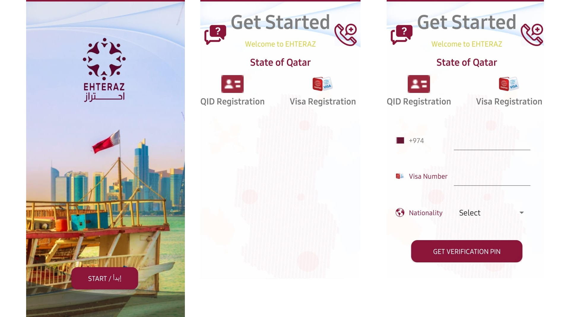 Non-QID holders were not able to register on this app as it required QID number to complete the registration. In a recent update on android version of EHTERAZ (on Google Play Store) it allows non-QID holders (Business and Other Visit Visa Holders) to register using Visa information instead of QID number.
